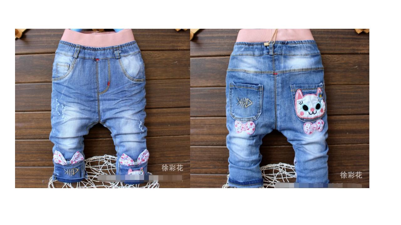 กางเกงยีนส์เด็กขายาว อายุประมาณ 0-3 ปี (พร้อมส่ง)