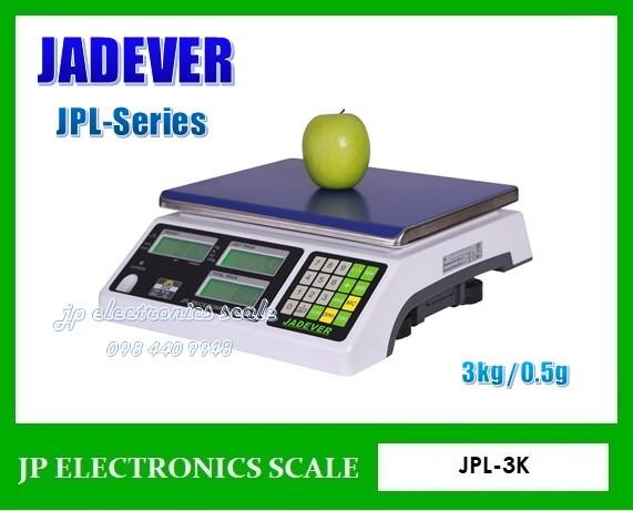 เครื่องชั่งคำนวณราคา3kg ละเอียด0.5g JADEVER รุ่น  JPL-3K