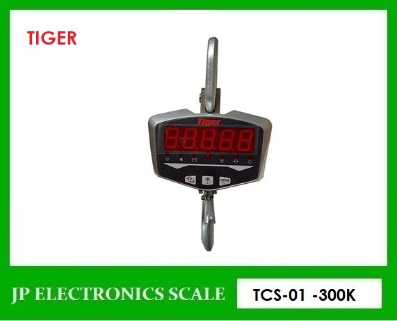 เครื่องชั่งแขวนพร้อมรีโมทคอนโทรล300kg ละเอียด0.1กิโลกรัม เครื่องชั่งแขวน TIGER รุ่น TCS-01-300