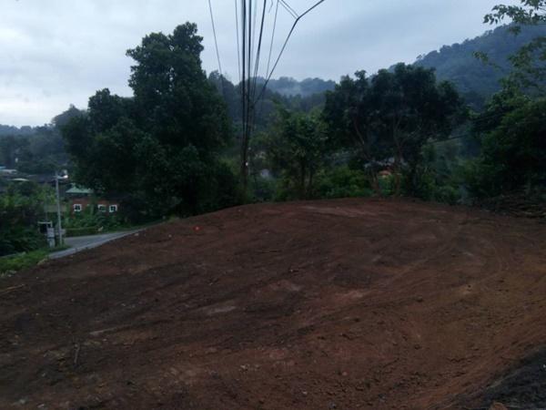 ขายที่ดินหางดง-บ้านปงเชียงใหม่ บนเนินเขา วิวสวย มองเห็นได้ไกล มีหมอกปกคลุม ติดถนนใหญ่