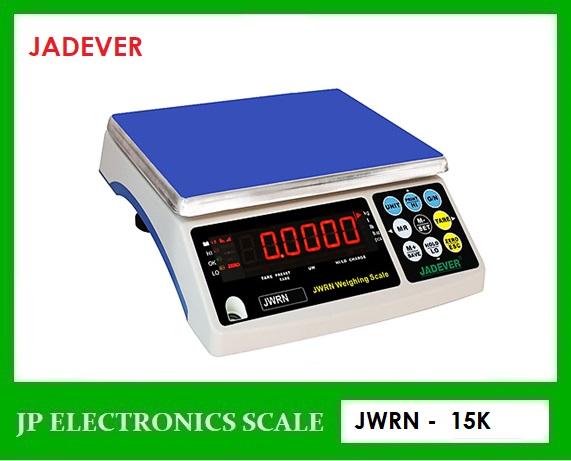 เครื่องชั่งตั้งโต๊ะ15kg เครื่องชั่งดิจิตอล15kg ยี่ห้อ JADEVER รุ่น JWRN-15K