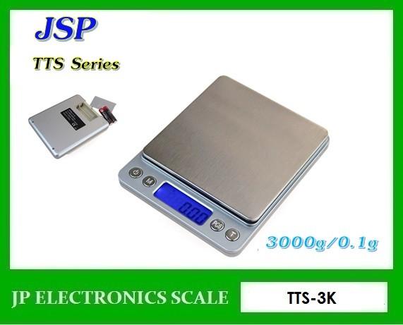 เครื่องชั่งดิจิตอล3000กรัม เครื่องชั่งน้ำหนัก3000g ยี่ห้อ JSP รุ่น TTS-3K