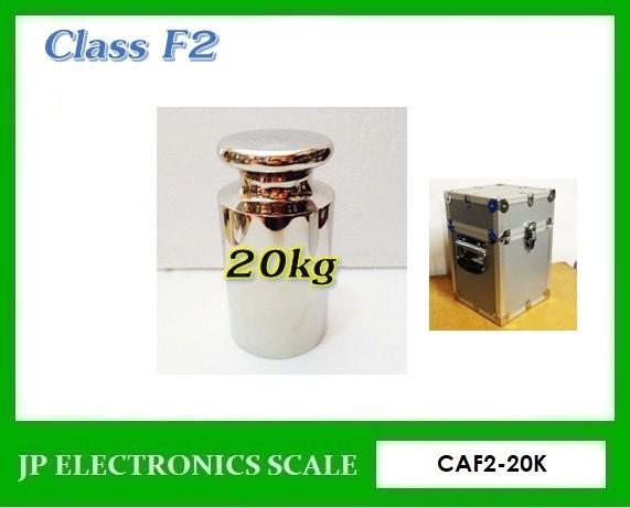 ลูกตุ้มน้ำหนักมาตรฐาน สแตนเลส น้ำหนัก20kg Class F2 CAF2-20K
