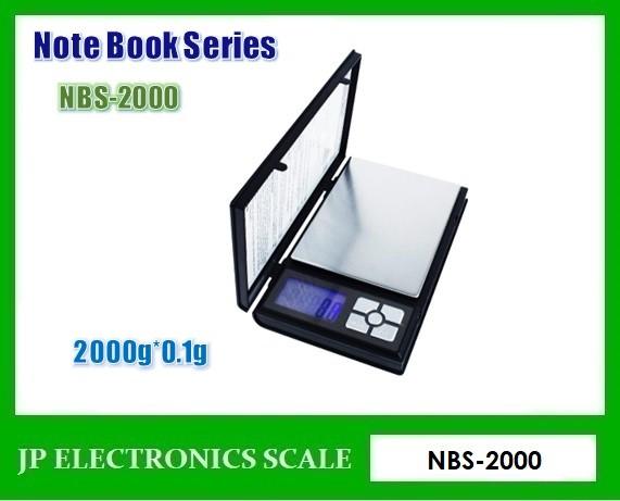 เครื่องชั่งแบบพกพา2000g เครื่องชั่งดิจิตอล ยี่ห้อ Notebook Series รุ่น NBS-2000