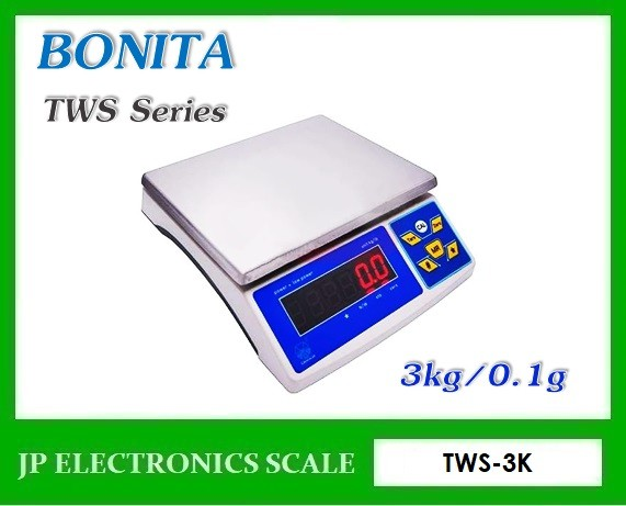 เครื่องชั่งตั้งโต๊ะ3kg เครื่องชั่งดิจิตอล3kg ยี่ห้อ BONITA รุ่น TWS-3K