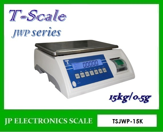 เครื่องชั่งพร้อมพิมพ์ในตัว15kg เครื่องชั่งบิ้วอินปริ้นเตอร์ ยี่ห้อ T-Scale รุ่น JWP Series