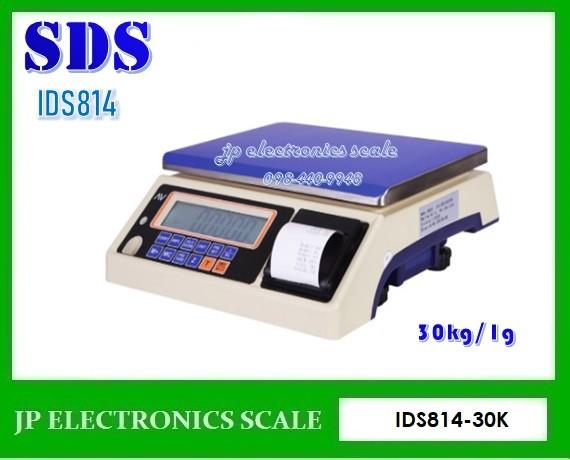 เครื่องชั่งพร้อมพิมพ์ในตัว30kg เครื่องชั่ง ยี่ห้อ SDS รุ่น IDS814 Series