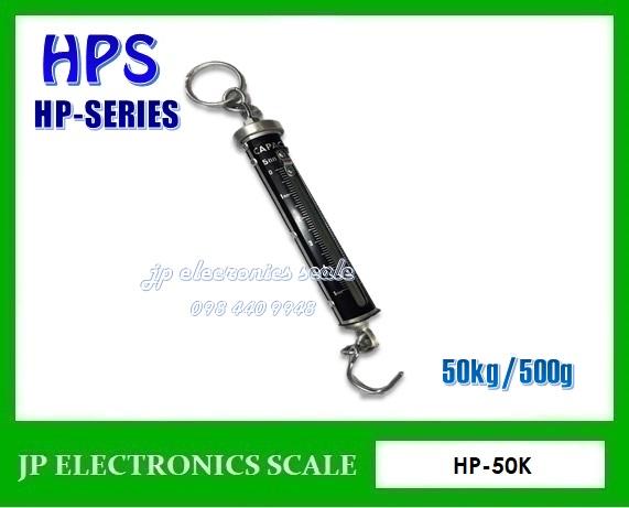เครื่องชั่งแขวนสปริง50kg ค่าละเอียด 500g ยี่ห้อ HPS รุ่น HP-50K