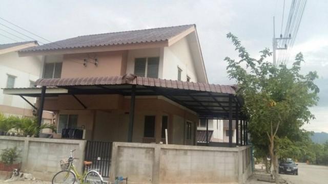 ให้เช่าบ้านแฝด 2 ชั้น บ้านเอื้ออาทร จังหวัดกาญจนบุรี บ้านหลังมุม ใก้ลแยกแก่งเสี้ยน