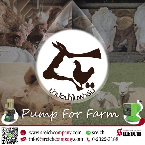 ปั๊มจ่ายสารละลาย สารเคมี สำหรับฟาร์ม ปศุสัตว์